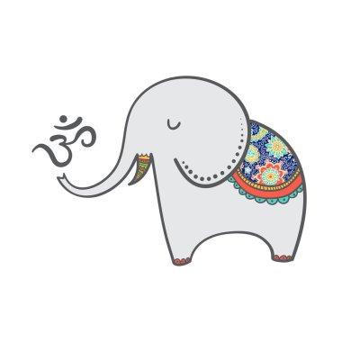 Cartoon oriental elephant