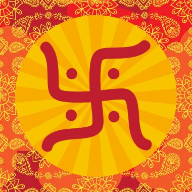 Indian background with om symbol
