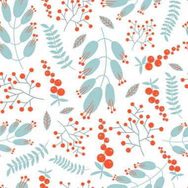 pattern with decorative flowers