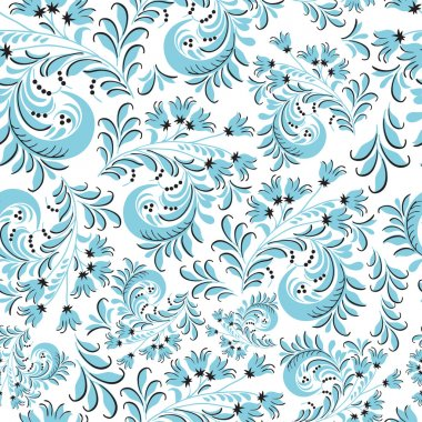 pattern in traditional Russian style Hohloma