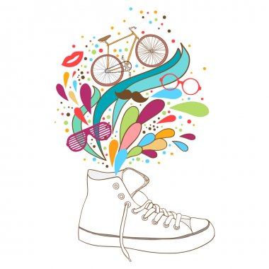 sneakers with elements of summer