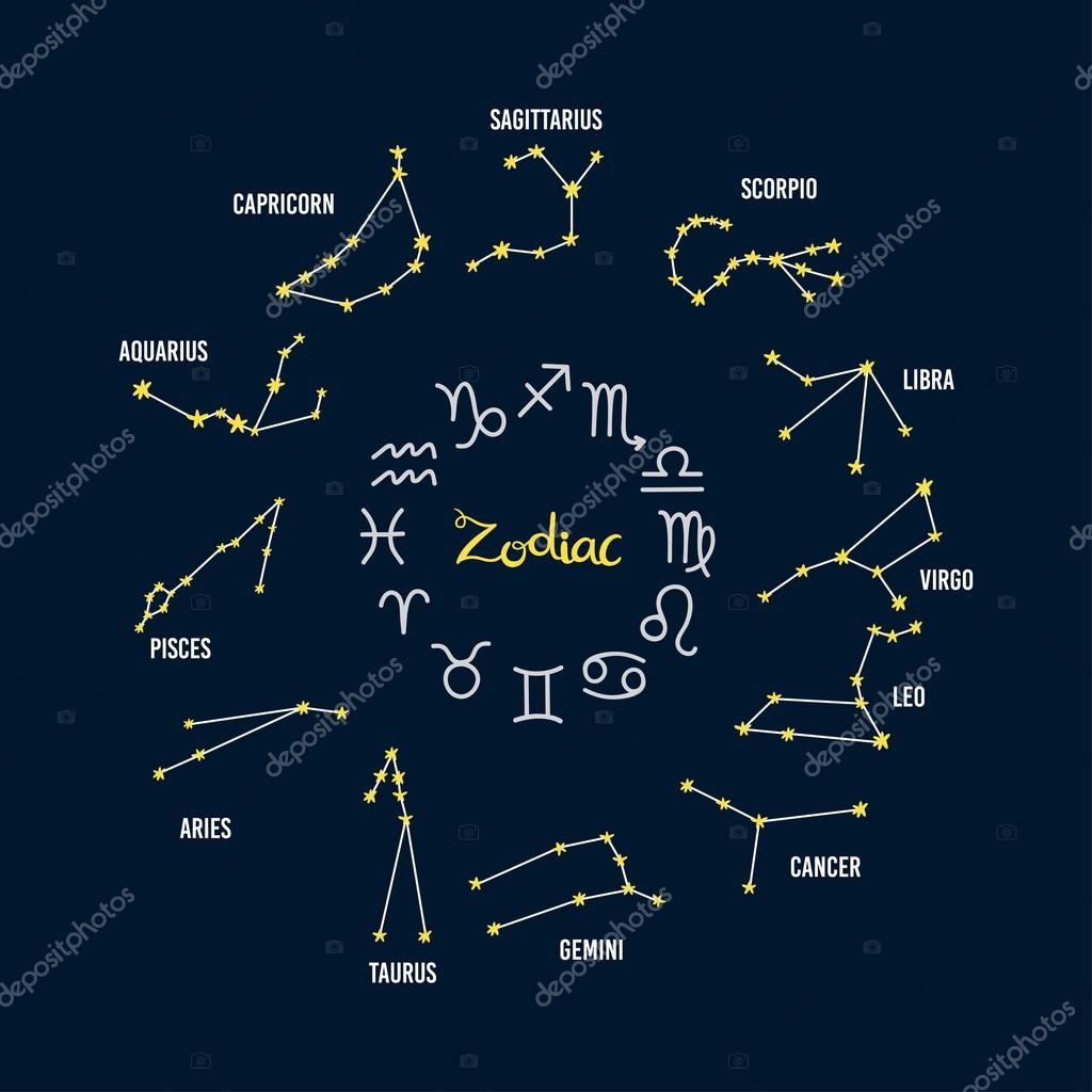 sternzeichen horoskop sternbild stockvektor 108892014. Black Bedroom Furniture Sets. Home Design Ideas
