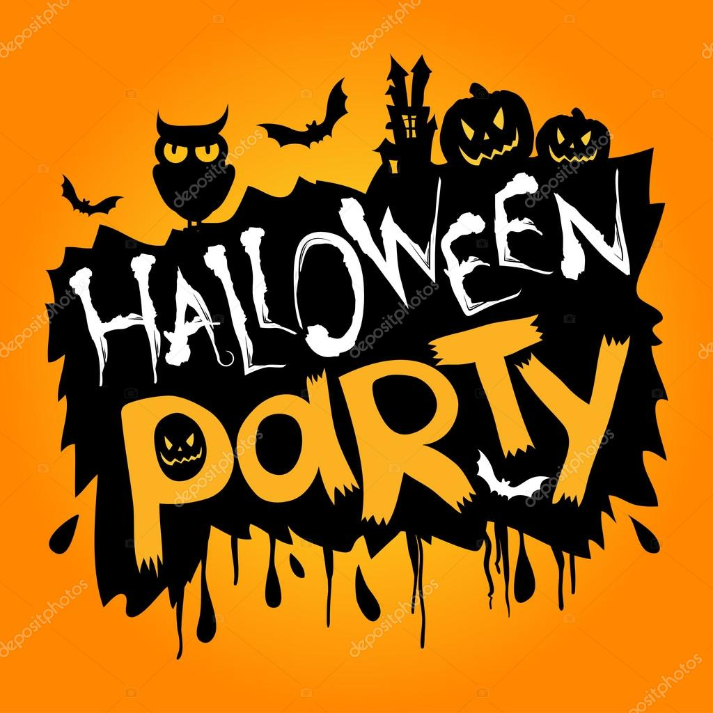 happy halloween party text stock vector whynotme cz 108896546