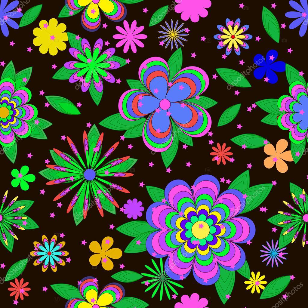 Imagenes Flores Infantiles Animadas Patron De Verano De Dibujos