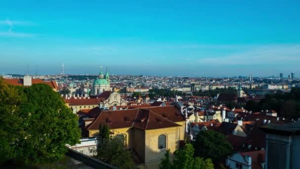 time-lapse Prague Old city,Charles Bridge, panorama of the city