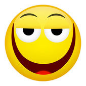Fotografie Drunken, müde lächeln Lachen Emotion. Emoji-Vektor-illustration