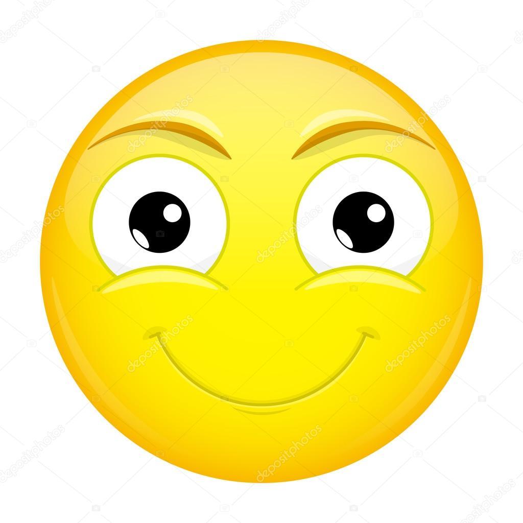 smiling emoji good emotion happy emoticon vector