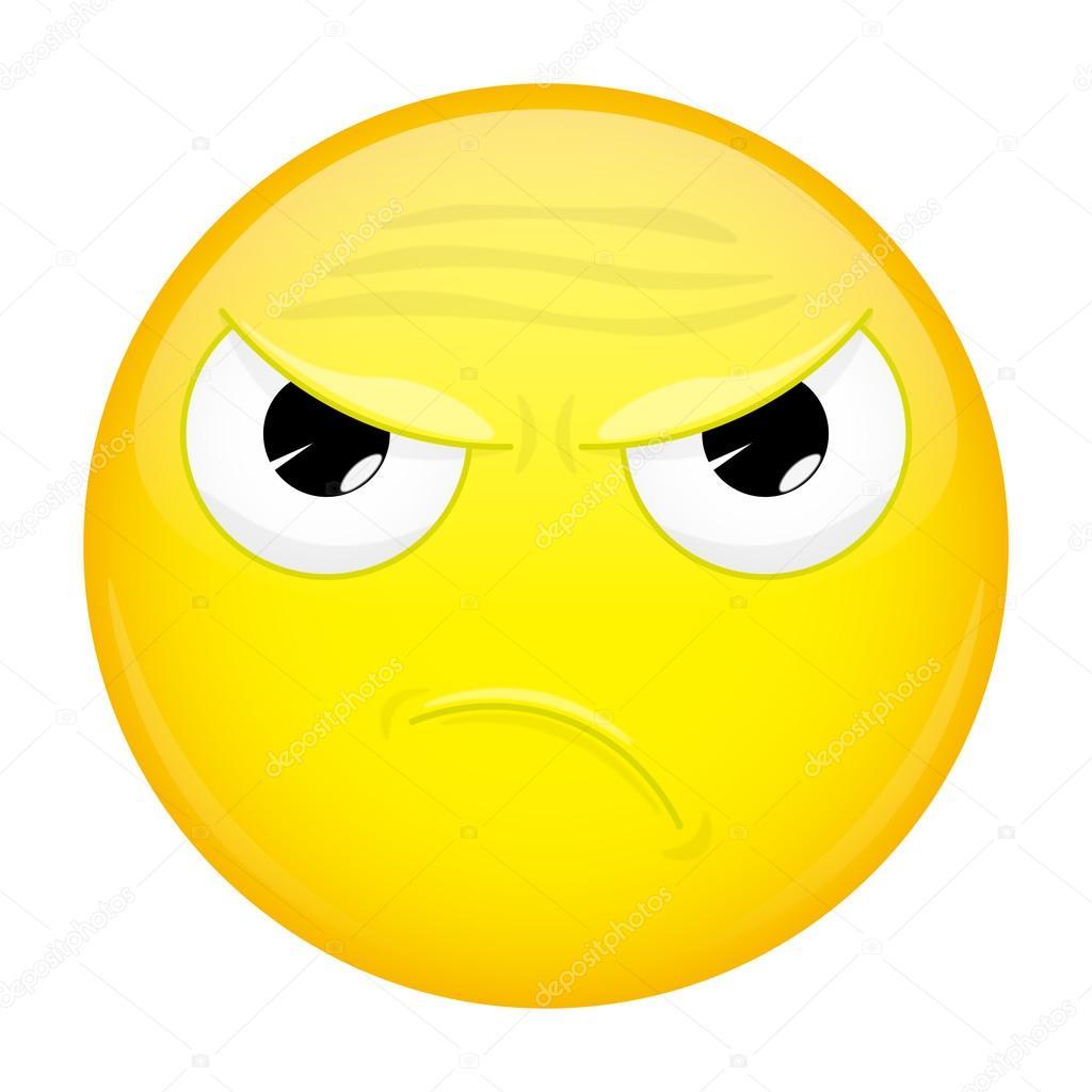 angry emoji evil emotion wicked emoticon vector illustration
