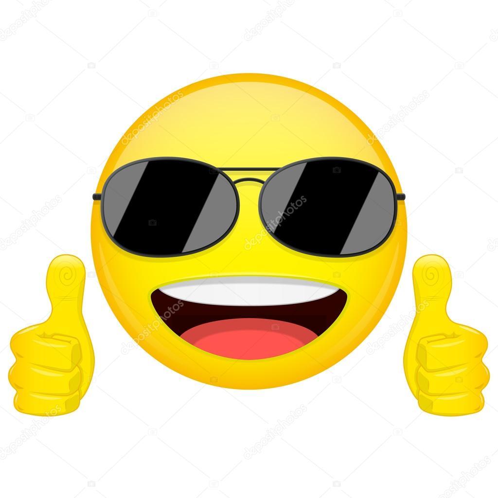 Cool Smiley Face Thumbs Up Bonne idée emoji....