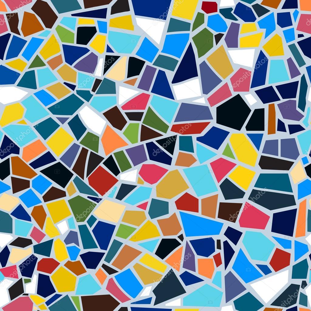 vektor abstrakte nahtlose mosaik muster multi color bunte zerbrochenen dachziegel hintergrund vektor von barrirret - Mosaik Muster