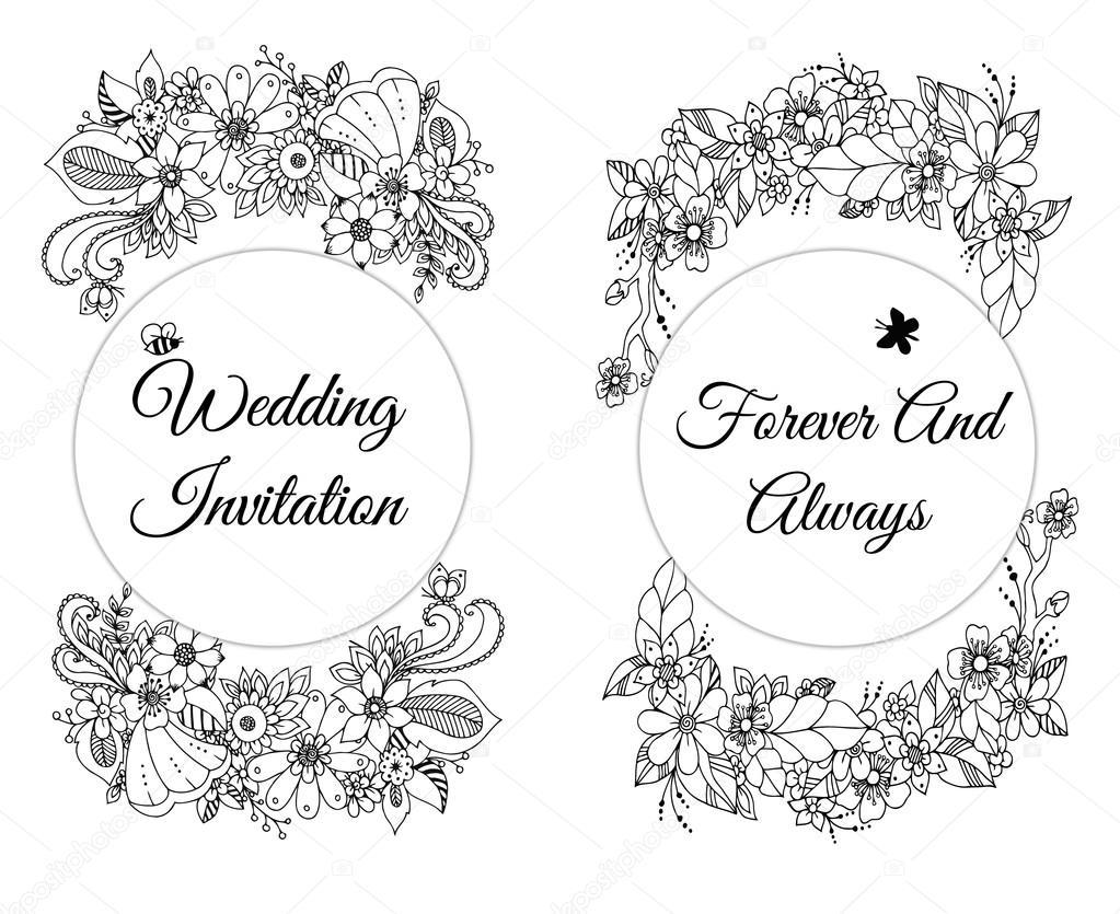 ベクトル花バナー禅昆布にカードのイラストもだらだら明るい