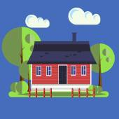 Photo Cute vector house
