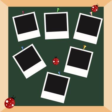 Polaroid frames vector set.