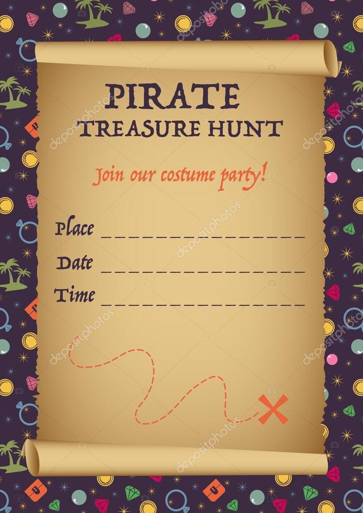 Design de carto de convite de caa ao tesouro pirata modelo vector design de carto de convite de caa ao tesouro pirata modelo vector fotografia de stopboris Image collections