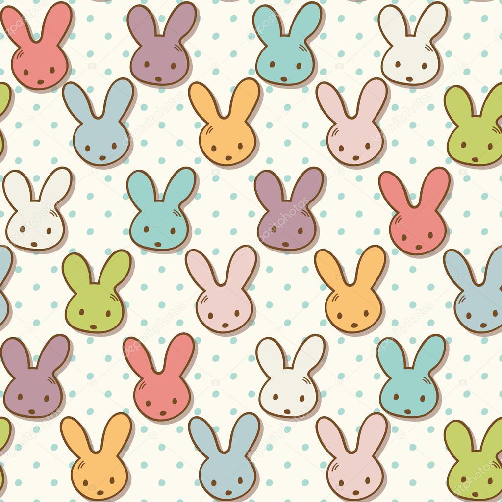 Patrón sin fisuras con lindos conejos. Fondo colorido conejito ...