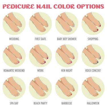 Pedicure nail color options