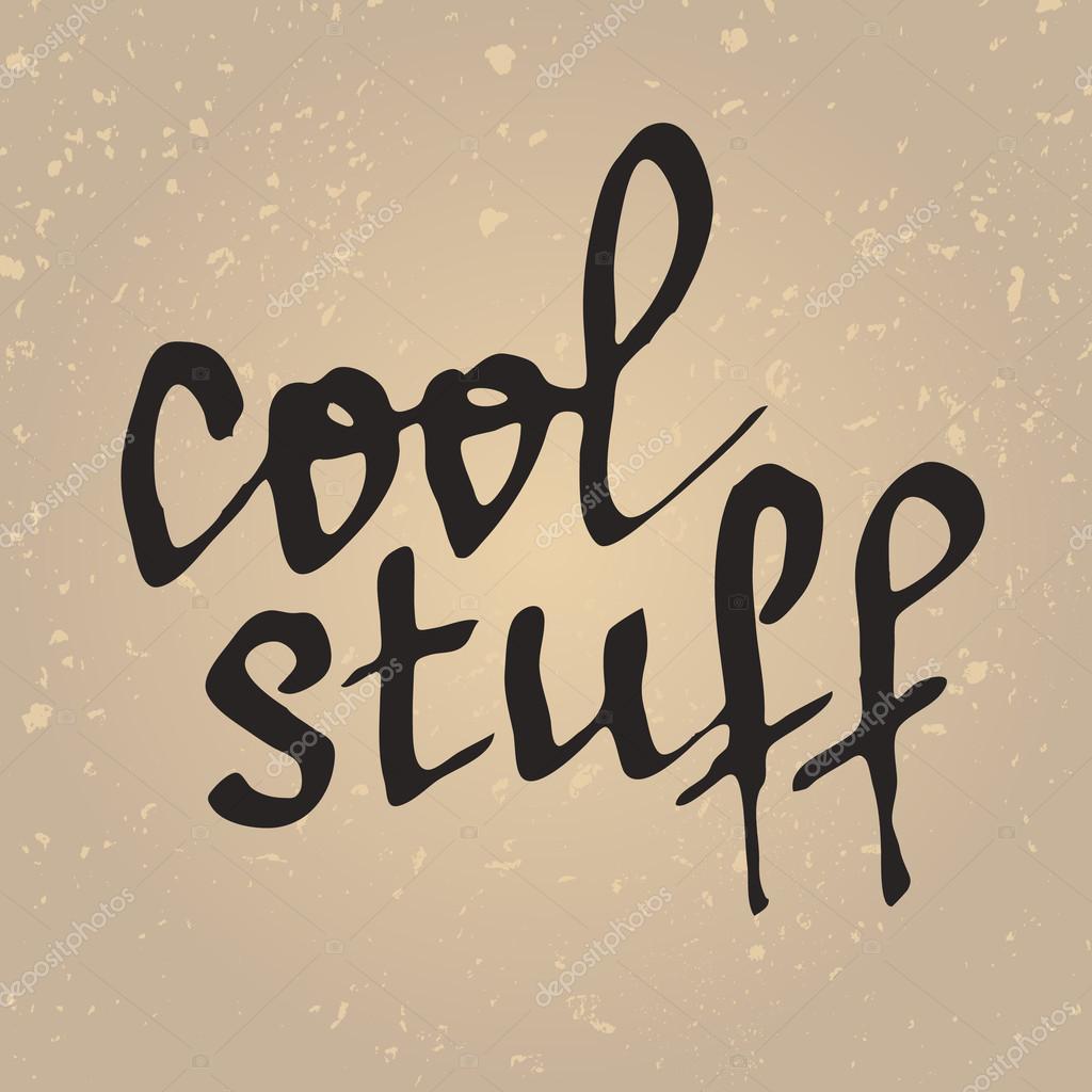 Coole Sachen Schriftzug. Handgeschriebene Wörter — Stockvektor ...
