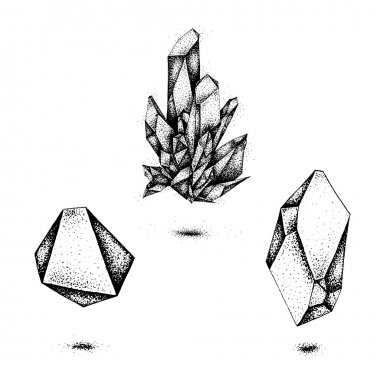 Vector graphics of crystal