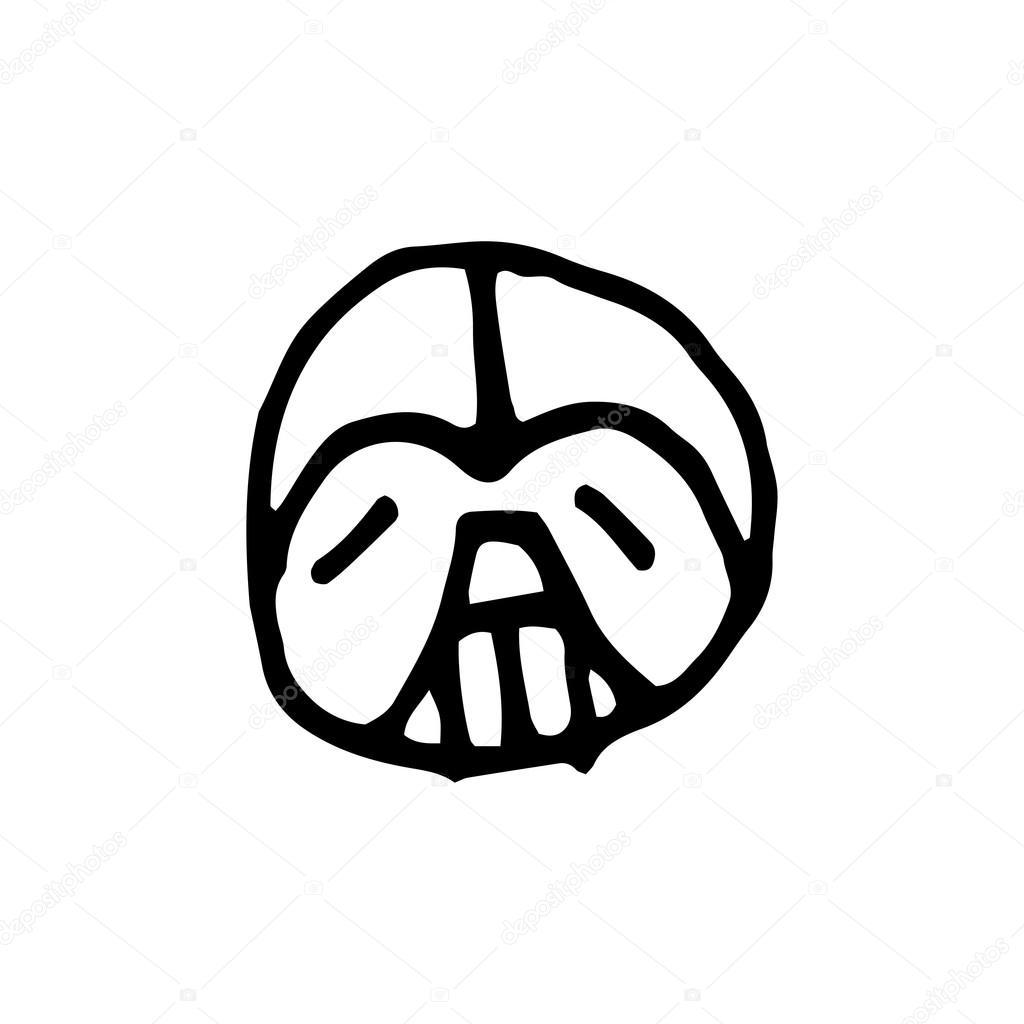 Emoticon smile logo — Stock Vector © oleg_katya_yd #116710550