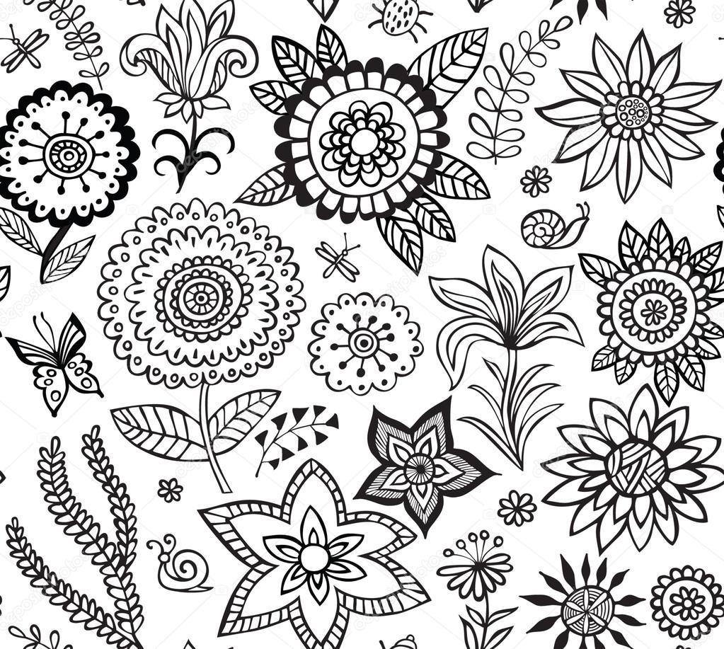 Blumenmuster Zeichnen