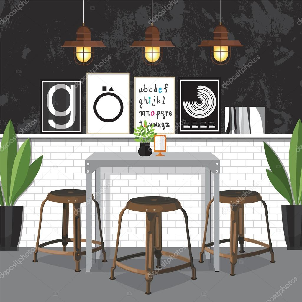 Dining Room Decorating Stock Vector