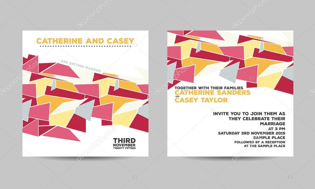 Wedding invitation card — Stock Vector © Tomiganka #113498538