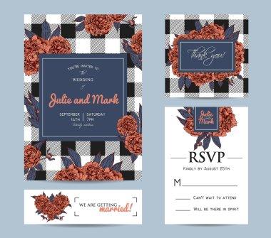 Botanic invitation set