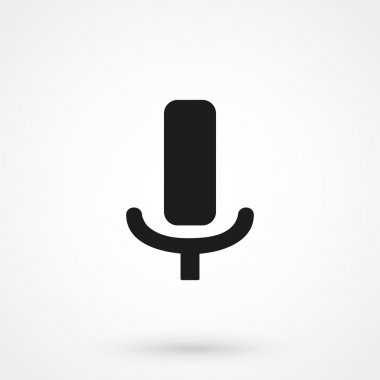 Microphone icon vector black