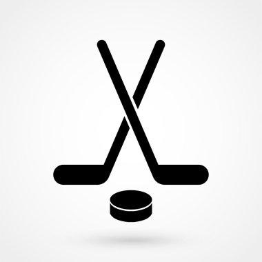 hockey icon black vector on white background