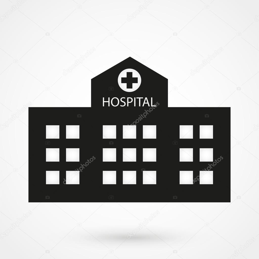 hospital icon vector black on white background stock. Black Bedroom Furniture Sets. Home Design Ideas