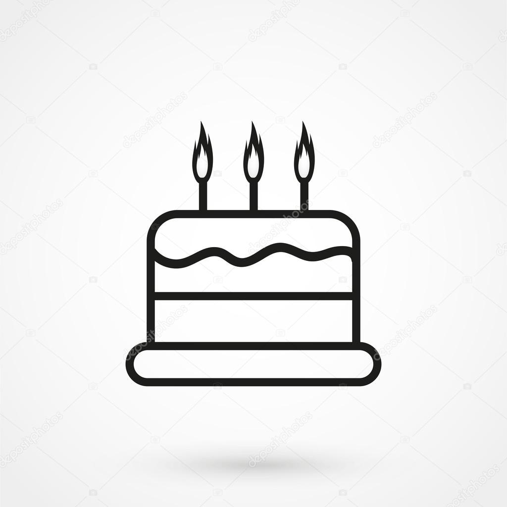 taart pictogram taart pictogram vector zwart op witte achtergrond — Stockvector  taart pictogram