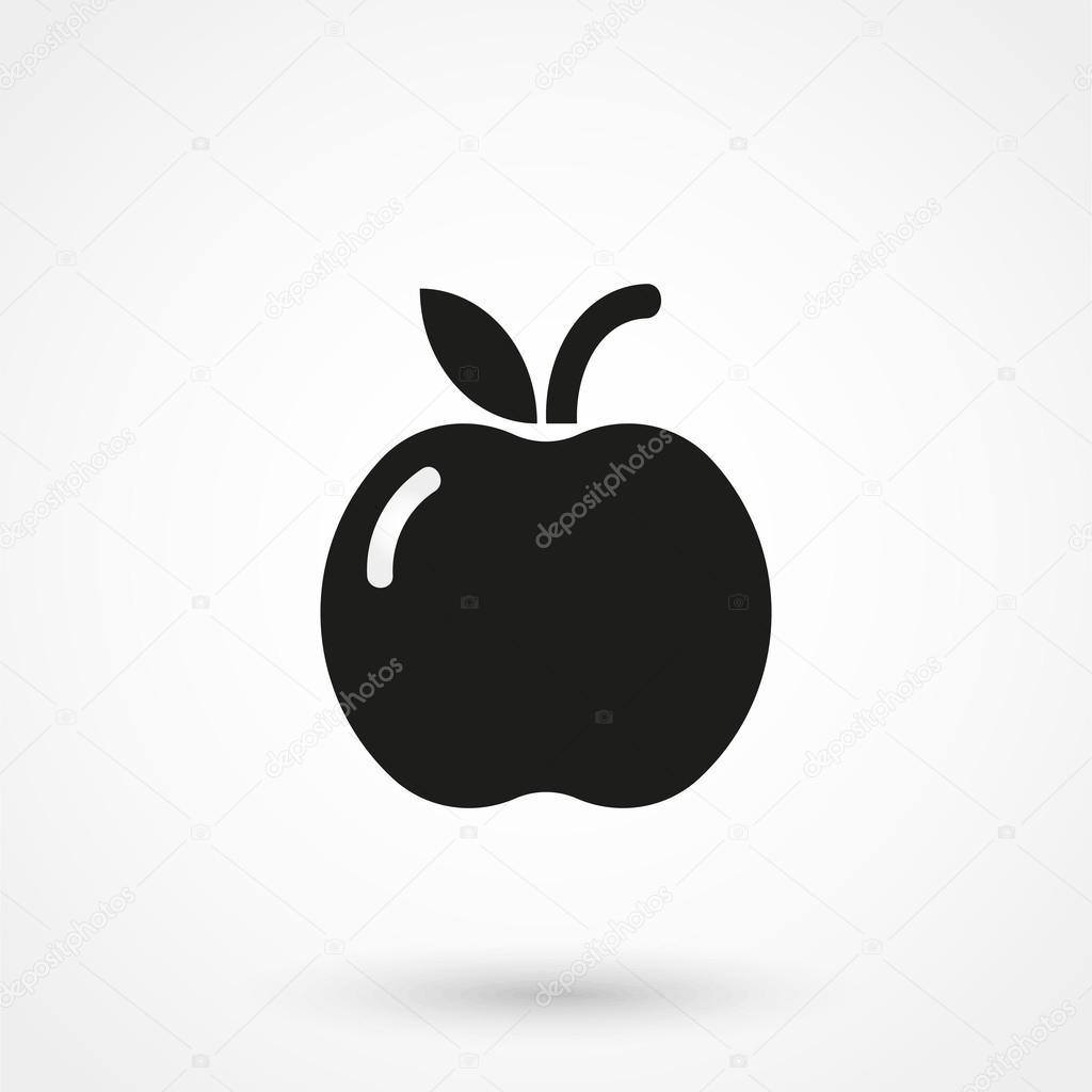 Vetor de cone apple preto sobre fundo branco vetores de stock vetor de cone apple preto sobre fundo branco vetores de stock altavistaventures Choice Image