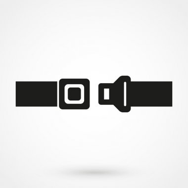 seat belt icon in a simple style