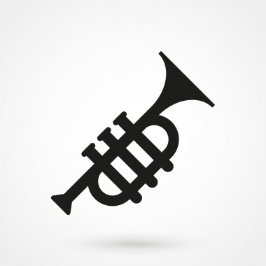 trumpet icon in a simple style