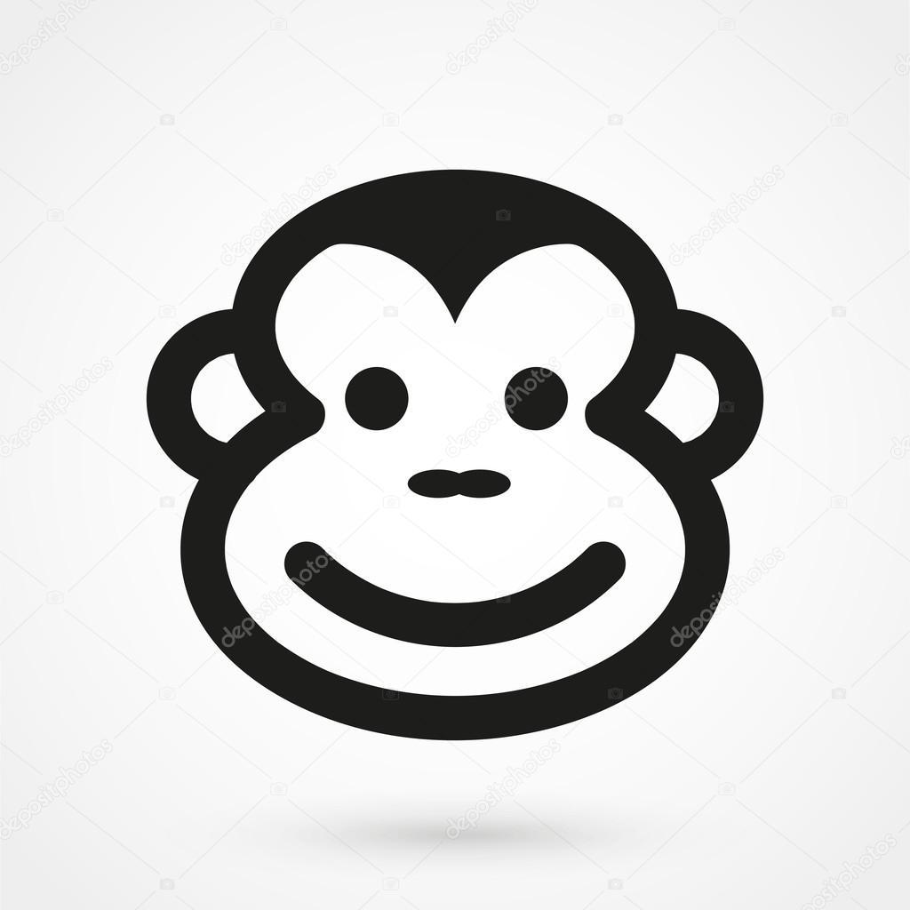 Affengesicht in einem einfachen Stil — Stockvektor © elenberg24.mail ...