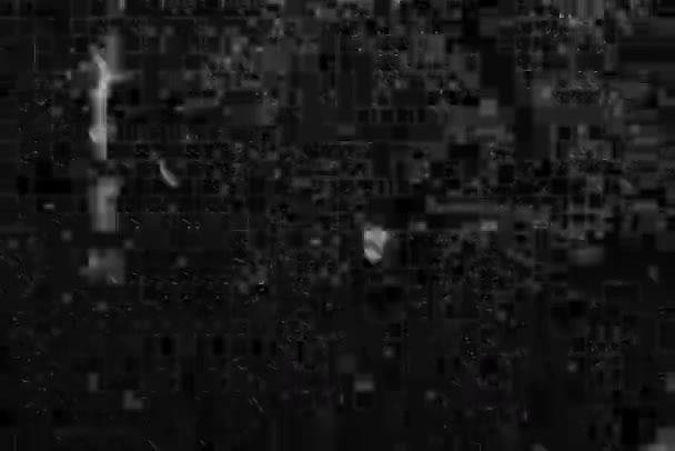 Fehér karcolások a fekete háttéren. A régi mozi hatása