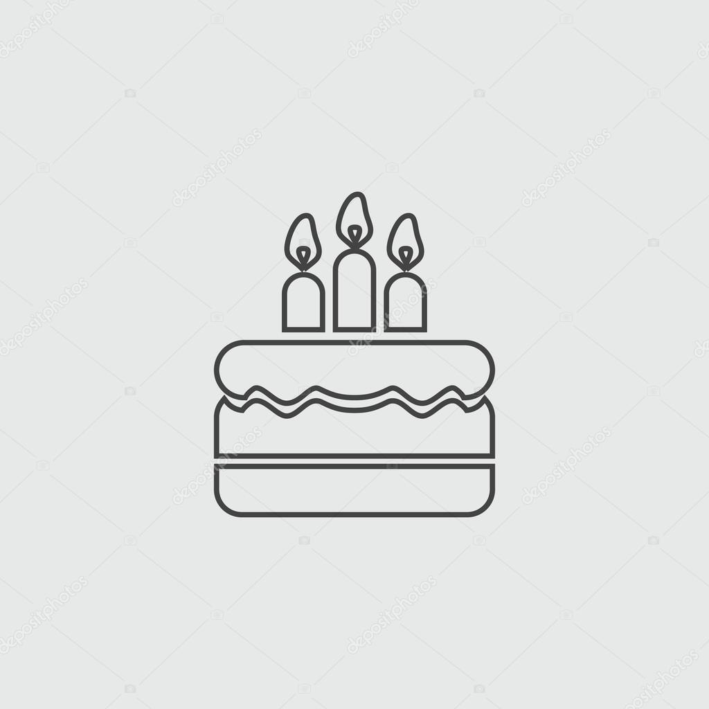 Tremendous Birthday Cake Vector Sign Illustration Icon Stock Vector Funny Birthday Cards Online Elaedamsfinfo