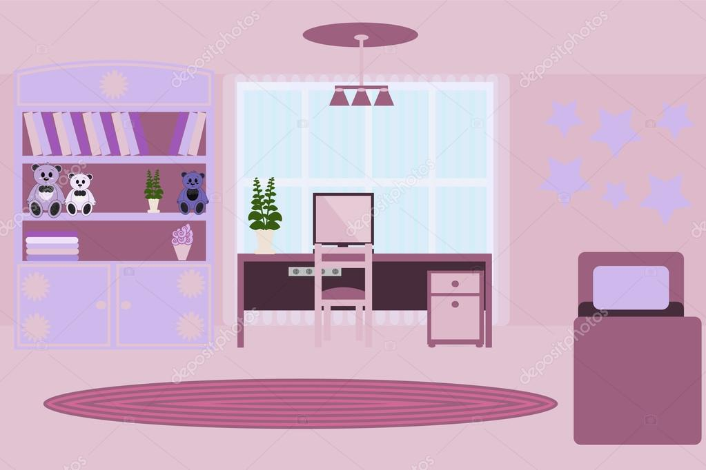 camera per ragazza. l'interno della camera per ragazze. camera in ... - Interni Ragazze Camera Design