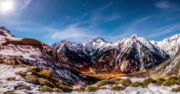 Night mountains motionlapse