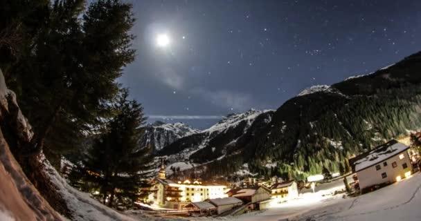 Noční Timelapse Alpy Kaunertal