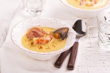 Delicious cream chowder soup