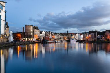 Historic Leith Harbour at Twilight