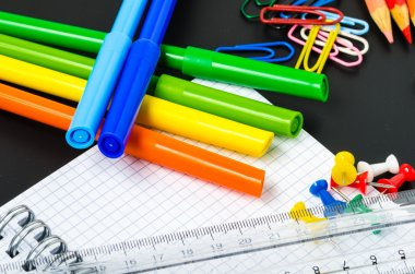 Close up of School Stationery