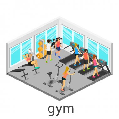 Isometric interior of gym