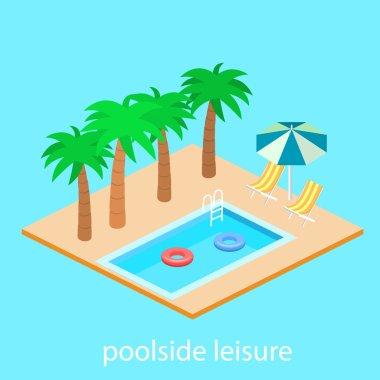 Isometric design of swimming pool