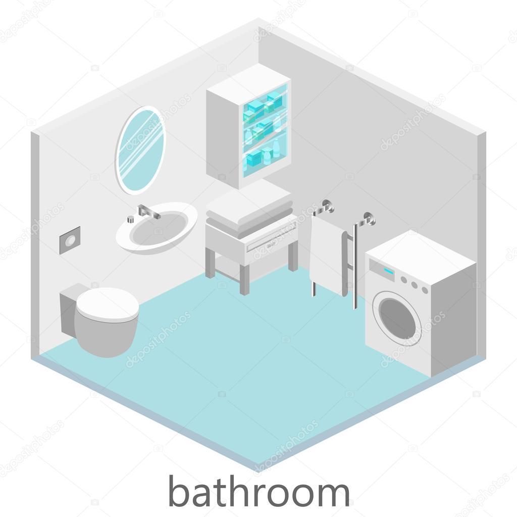 Ванная комната в изометрии как поменять буксу в смесителе