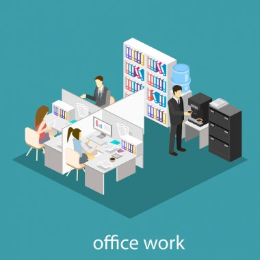office floor interior departments con