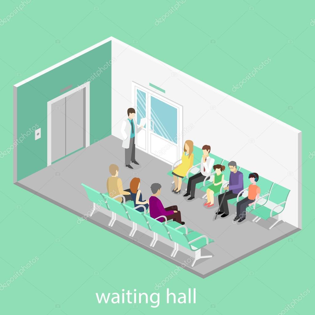 waiting room at the hospital.