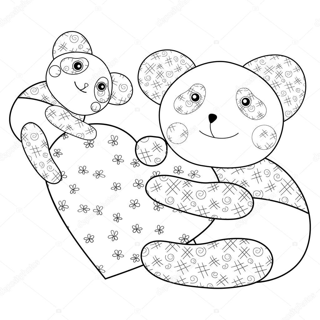 malvorlagen teddy mit herz