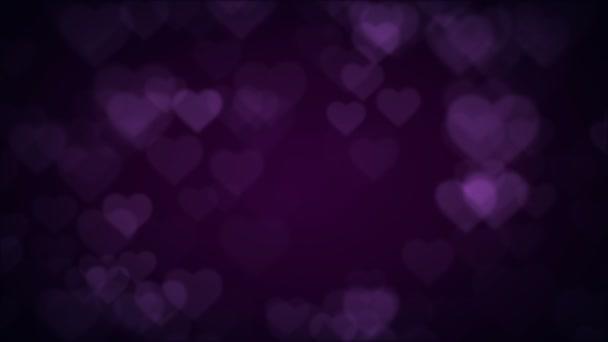 Flying love hearts.